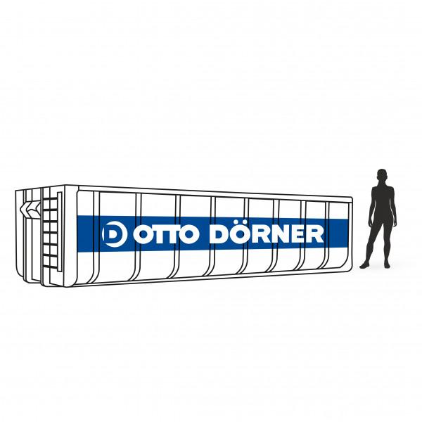 Abrollcontainer für Baumischabfall in Schwerin